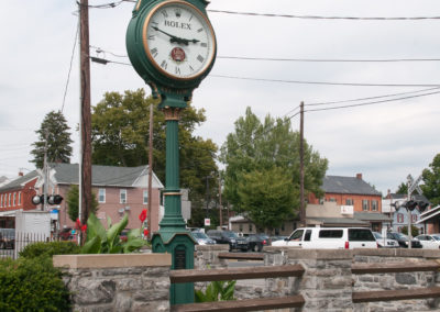 LITITZ, PA - AUGUST 30: View of Old Lititz Rolex Town Clock on August 30, 2014